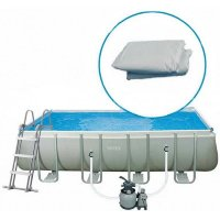 "12228 Чаша для бассейна 488х244х107см INTEX POOL LINER FOR 16'X8'X42"" RECTANGULAR PRISM FRAME POOL"