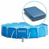 "12134 Чаша для бассейна 7,32х1,32м INTEX 24'X52"" METAL FRAME POOL LINER"